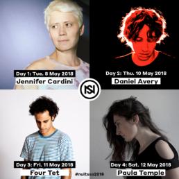 4 artistes résidents pour les 4 journées principales des Nuits Sonores 2018 à Lyon