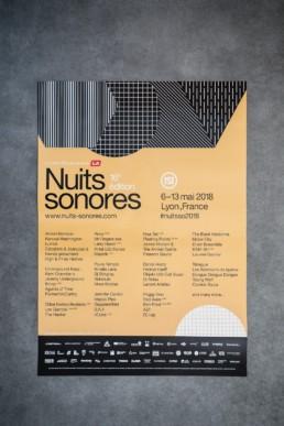 L'affiche des Nuits Sonores 2018